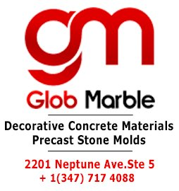 Globmarble - Decorative Concrete Materials, Precast Stone Molds