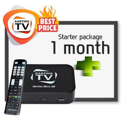 [Bestseller] Starter Package Kartina TV + Dune Micro HD