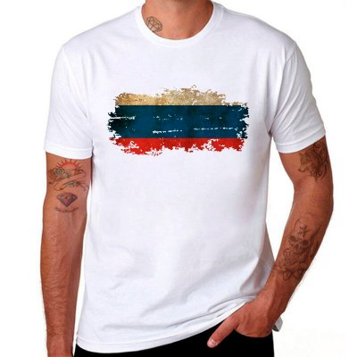 Men's national flag print T-shirt